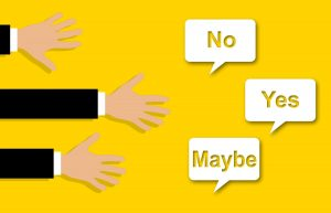 Yes, No, Maybe options for LinkedIn content sharing